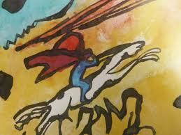 Der Blaue Reiter (détail), Kandinsky