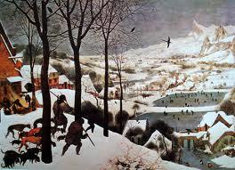brueghel, les chasseurs dans la neige, ou hiver, 1565, Kunsthistorisches Museum, Wien
