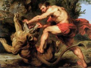 Samson et le lion, Rubens