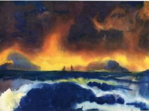 Mer orageuse, Emil Nolde
