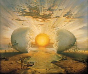 Sunrise by the Ocean par Vladimir Kush